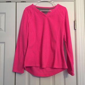 Neon pink fleece